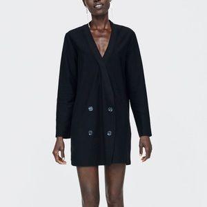 Zara Jackets & Coats - Zara black double breasted dress